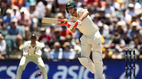 Article image for Marsh posts maiden Test century as Australia take lead