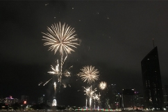 New Year's Eve: Thunderstorms held back to reveal stunning fireworks display