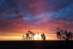 Stunning sunset sent in from country Australia