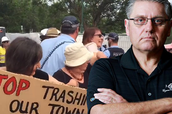 Article image for Ray Hadley slams whingeing protester