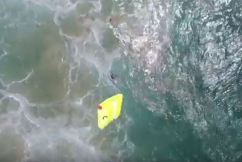 MUST WATCH: Drone saves two struggling swimmers caught in a rip