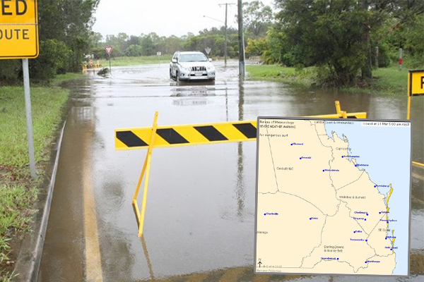 Article image for Brisbane residents yet to see the end of heavy rainfall