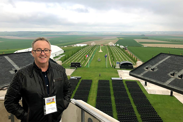 Article image for GALLERY | Chris broadcasts live from Villers-Bretonneux