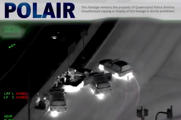 Article image for WATCH | Footage shows dramatic Brisbane police pursuit