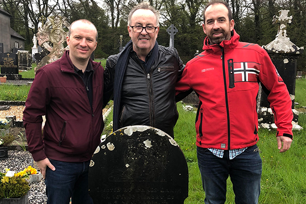 Article image for Chris finally meets the Irish family he's been hoping to find