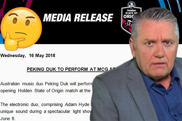 Article image for NRL hires delicious Chinese dish as State of Origin entertainment??