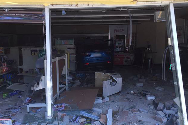 Article image for Car slams into service station in Sydney's west