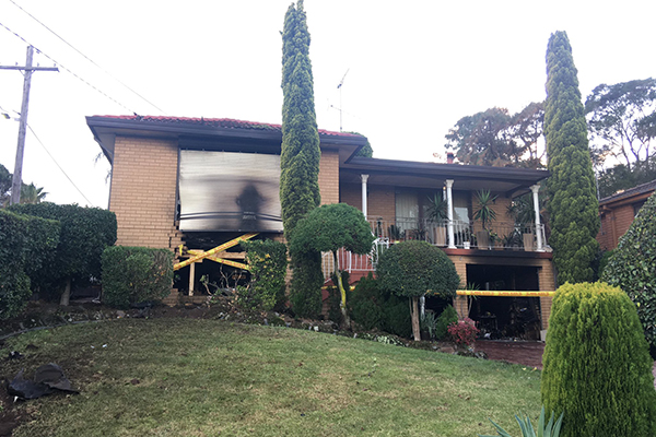 Article image for Unlicensed driver allegedly tries to flee after smashing into family home