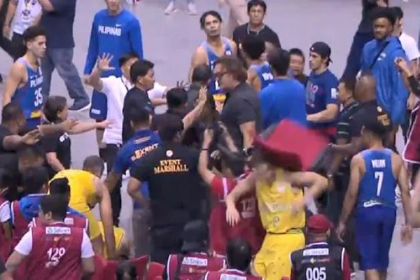 Article image for Boomers brawl: Basketball game descends into chaos in World Cup qualifier