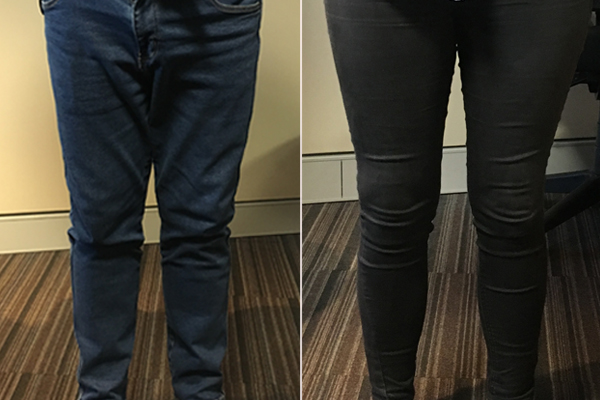 Article image for Ray Hadley takes on producer Taylah in skinny jean battle