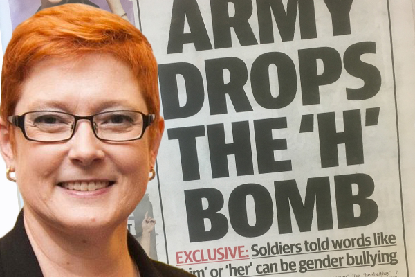 Article image for Defence Minister rejects claims army has ordered gender neutral language