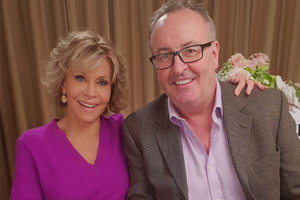 Article image for Chris Smith's chat with Jane Fonda gets VERY hot under the collar