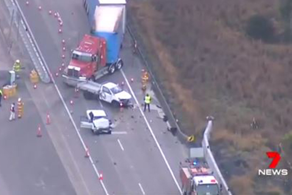Article image for 'He just kept coming': Shaken truckie describes moments before fatal M1 crash