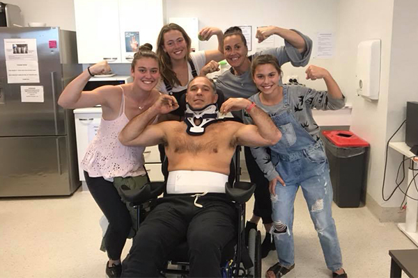 Article image for Community rallies around former Wallaby after he suffers severe spinal injury