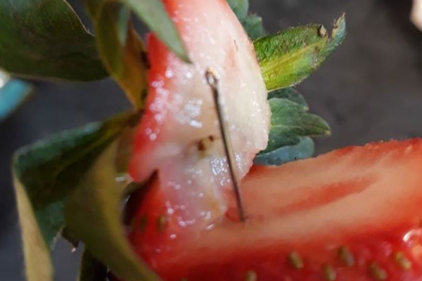 Article image for Police arrest woman over strawberry contamination crisis