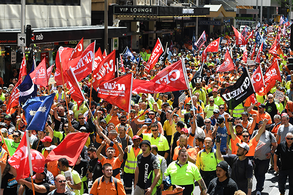 Article image for Union rallies 'a demonstration of militantunion power,' says Jobs Minister