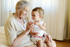 90% of grandmothers happy to help with the kids
