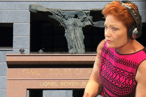Article image for Pauline Hanson taking up the case no one else will touch: Family Law Court reform