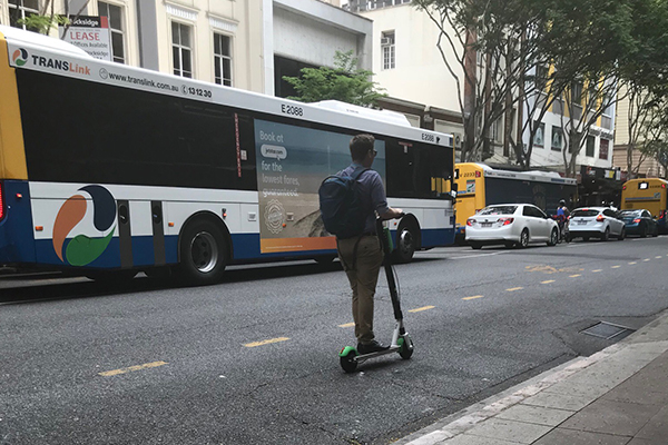 Article image for 'Stupid scooters' plaguing Brisbane roads