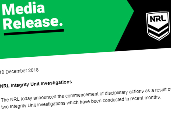Article image for NRL issues major breach notices to Cronulla Sharks and Wests Tigers