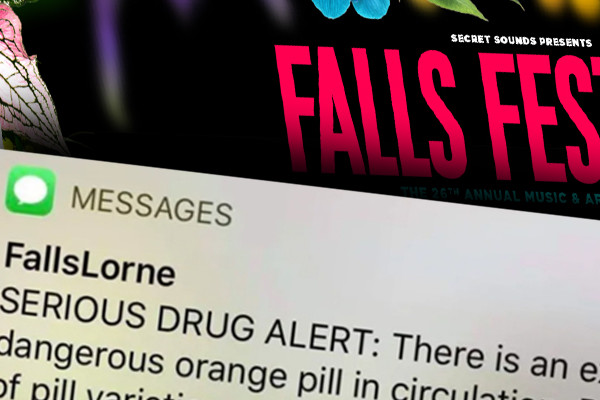 Article image for Orange pill prompts 'serious' SMS for Falls Festival revellers