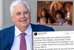 US rock band Twisted Sister 'not gonna take' Clive Palmer's comeback attempt