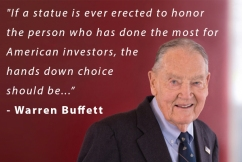 World's second richest man pays tribute to most influential investor in history
