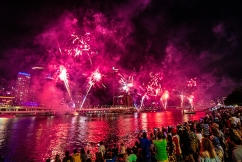 Brisbane lights up the skies to welcome in the New Year