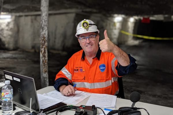 Article image for Chris Smith broadcasts from inside a working coal mine