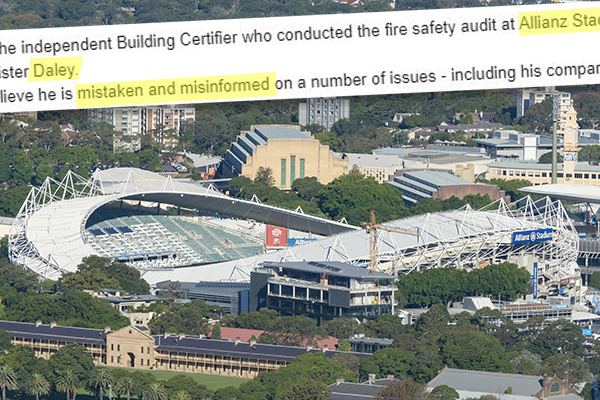 Article image for Revealed | Independent stadium certifier disproves 'misinformed' claims by Michael Daley