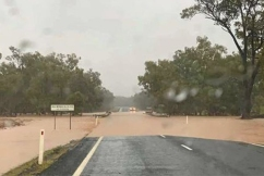 Flood closes highway in south west Queensland