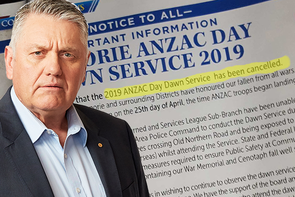 Article image for RSL blames police and 'terrorists' for cancelling ANZAC Day dawn service