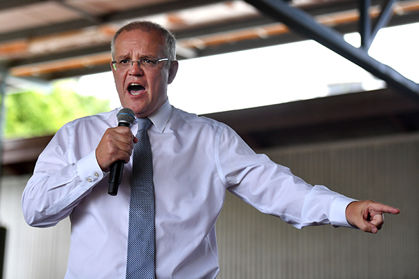 Article image for Labor maintains lead in first election poll but Scott Morrison more popular