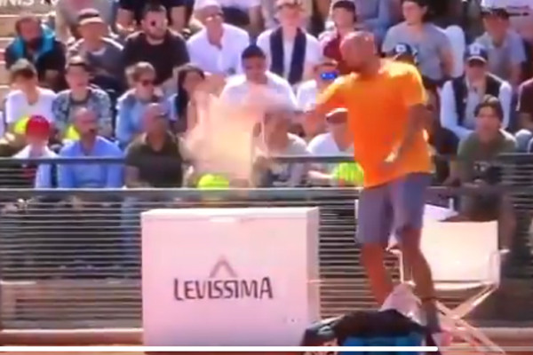 Article image for 'He needs medication': Nick Kyrgios reaches new low with extraordinary meltdown, walk-off