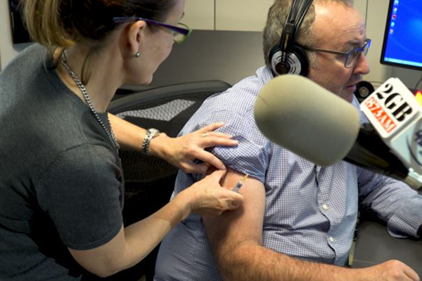 Article image for WATCH | Chris Smith gets flu shot live on-air