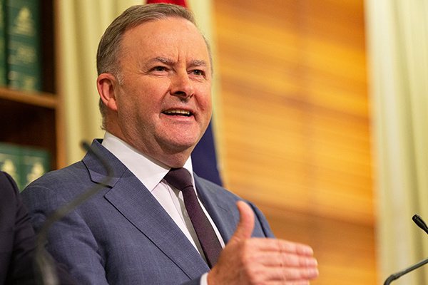 Article image for Anthony Albanese insists Labor's tax cut plan will benefit economy