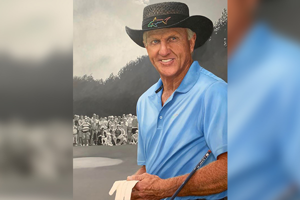 Article image for The man behind the amazing portrait of Greg Norman