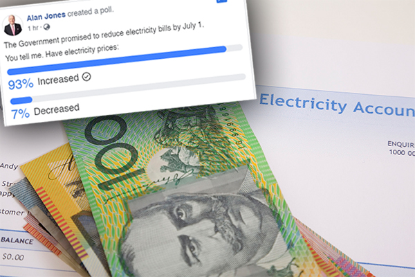 Article image for Government claims power prices are falling… you're telling us a very different story