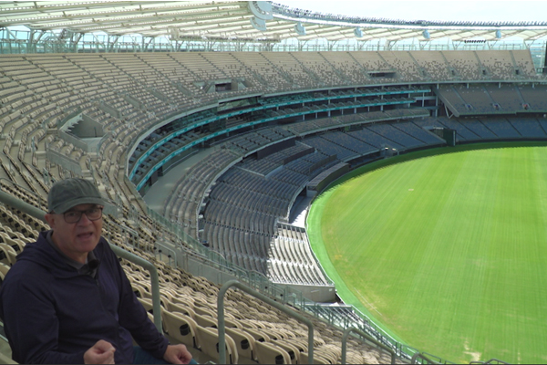 Article image for WATCH | John Stanley tours Optus Stadium before finding Australia's biggest pub