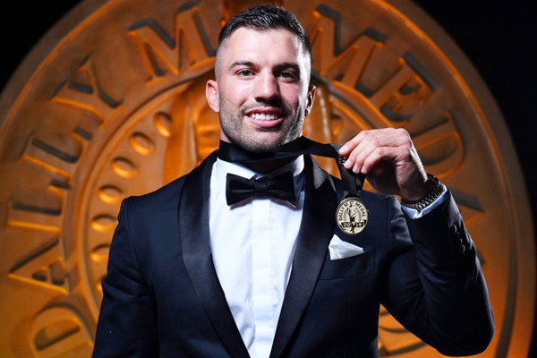 Article image for James Tedesco wins Dally M in dramatic count