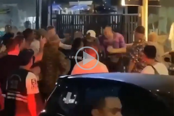 Article image for WATCH | NRL star caught on camera in Bali street fight