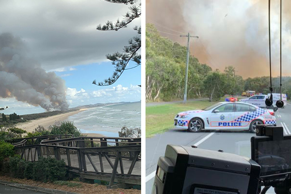 Article image for Residents urged to flee as bushfire threatens Sunshine Coast