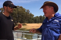 'It's a crisis': Announcer Billy Bradley draws attention to the drought