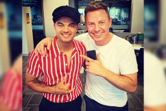 Guy Sebastian serenades Ben Fordham for his birthday