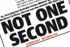 The NT News strikes again with front page targeting the Prime Minister