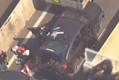 High-speed chase of car with no tyres ends in crash on Bruce Highway