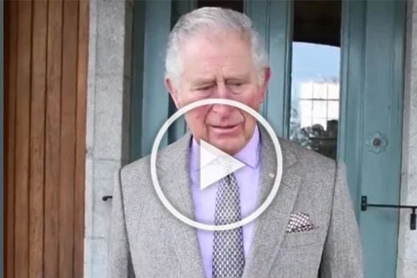 Article image for Emotional Prince Charles' heartfelt message to Australia