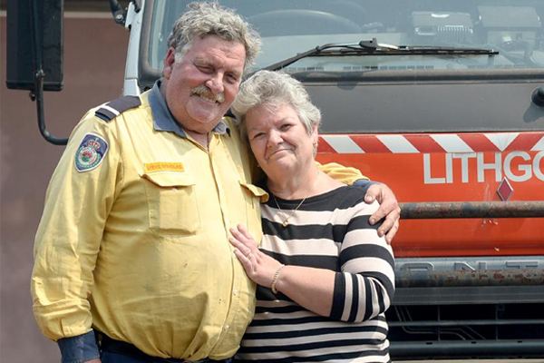 Article image for Hero firefighter 'still shell-shocked' after watching his own home burn down