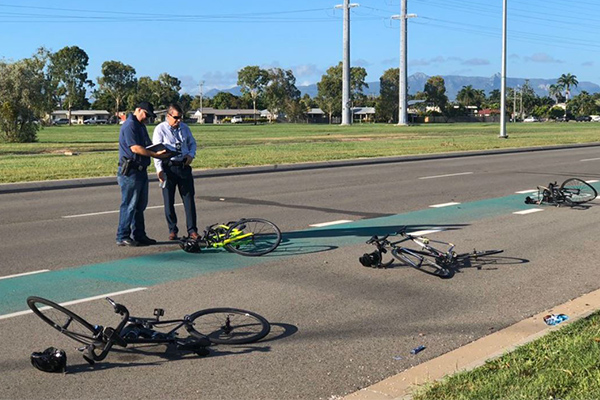 Article image for Five cyclists hospitalised after hit and run on busy QLD road