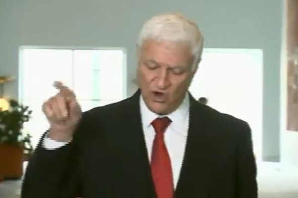 Article image for 'You lily pad leftie!': Bob Katter unleashes on journalists during press conference
